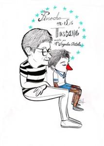 """Ilustración para el cuento """"Pinocho en la Toscana"""" de Mª Ángeles Artola, realizada por Marta Ruiz"""
