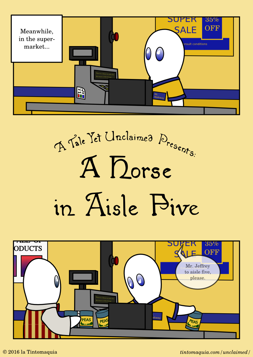 A Horse in Aisle Five, 1