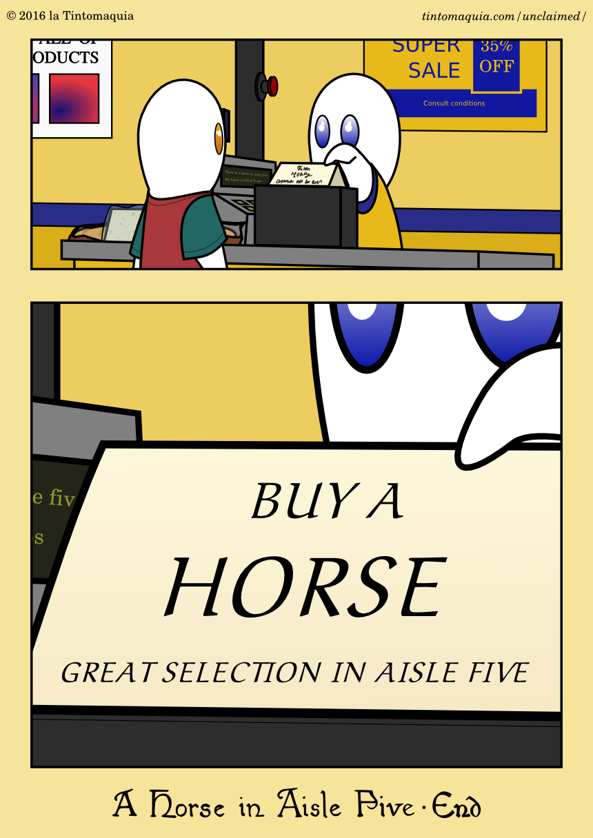 A Horse in Aisle Five, 14